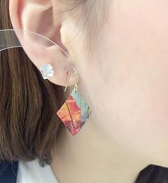 【イアパピヨネ/ear PAPILLONNER】 柄入りダイヤピアス [3000円(税込)以上で送料無料]