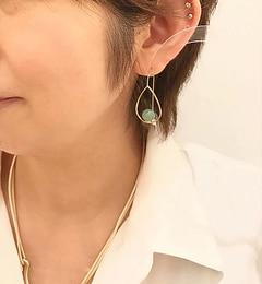 【イアパピヨネ/earPAPILLONNER】ゆりかごストーンピアス[送料無料]