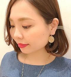【イアパピヨネ/earPAPILLONNER】レンガドロップピアス[送料無料]