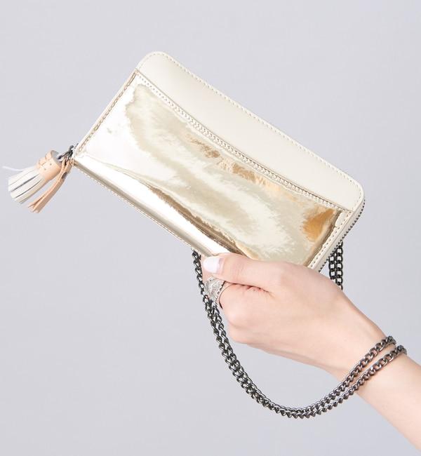 【イアパピヨネ/ear PAPILLONNER】 メタリックポケット財布ロング 【web限定】 [送料無料]