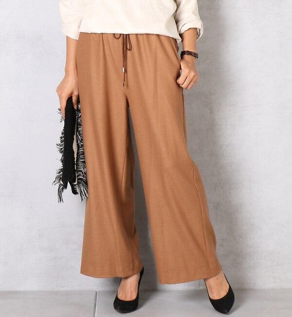 【ドゥドゥ/DouDou】 イージーワイド起毛パンツ [送料無料]