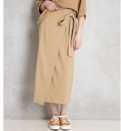 【ドゥドゥ/DouDou】 リボンハトメラップスカート [送料無料]