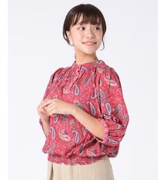 【カスタネ/Kastane】 七分袖ペイズリーレーヨンブラウス [送料無料]