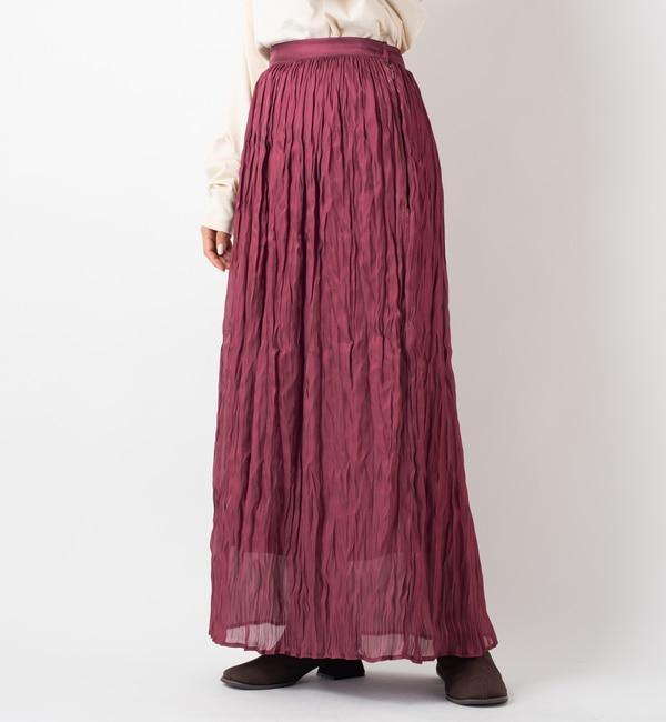 【カスタネ/Kastane】 フィラメントサテンスカート
