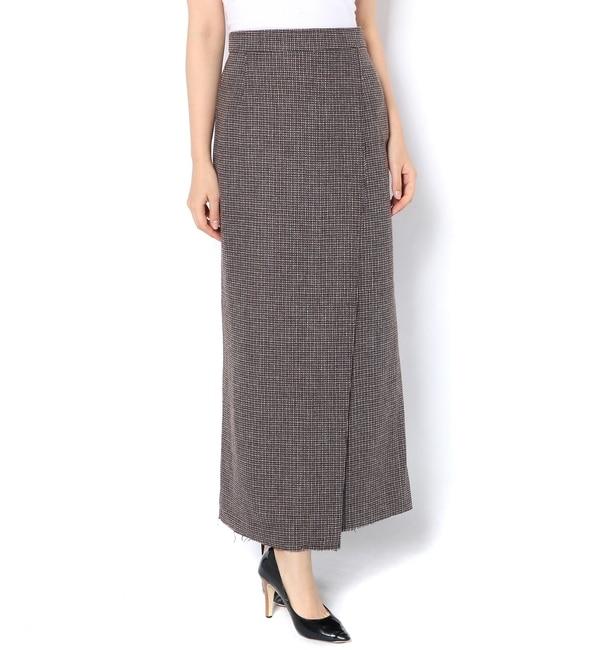 【カスタネ/Kastane】 ウールチェックラップスカート