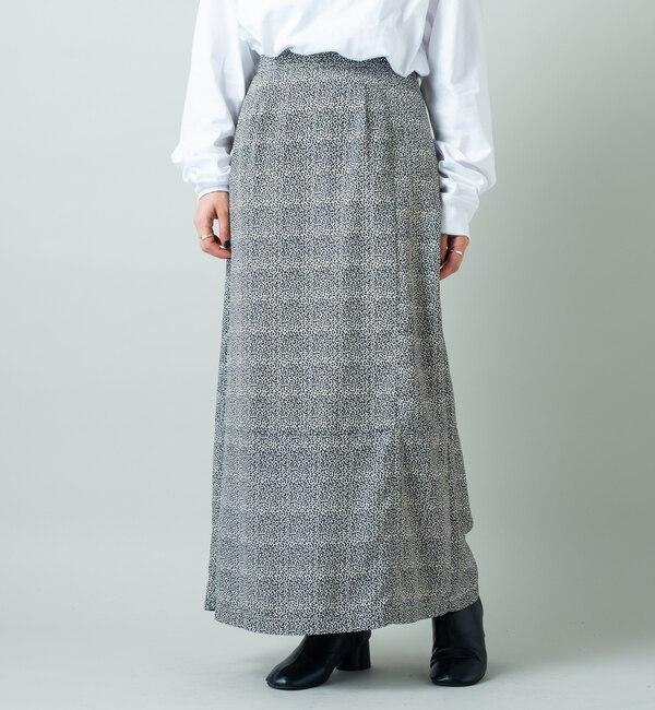 【カスタネ/Kastane】 アニマル柄Iラインスカート