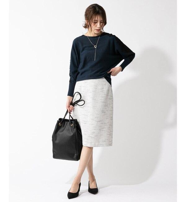 【アンディコール/un dix cors】 【謝恩会・入学式・卒業式・セレモニー対応】スラブツイードAラインスカート
