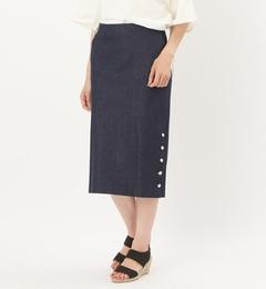 【リヴドロワ/RIVEDROITE】デニムミドル丈タイトスカート[送料無料]