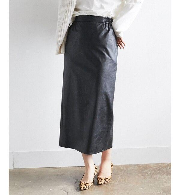 【ガリャルダガランテ/GALLARDAGALANTE】 【otonaMUSEコラボ】エコレザータイトスカート