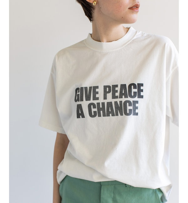 【R JUBILEE】別注ロゴTシャツ/GIVE PEACE A CHANGE