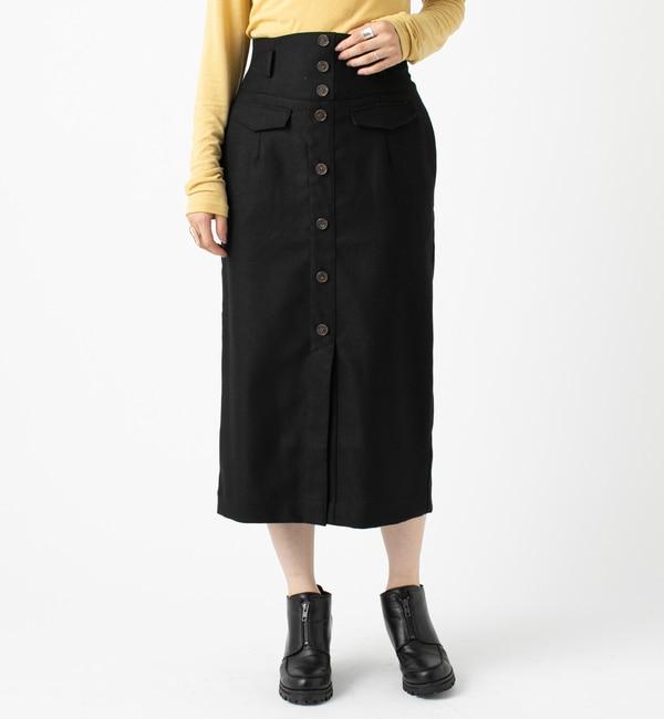 【ミスティック/mystic】 フロントボタンタイトスカート