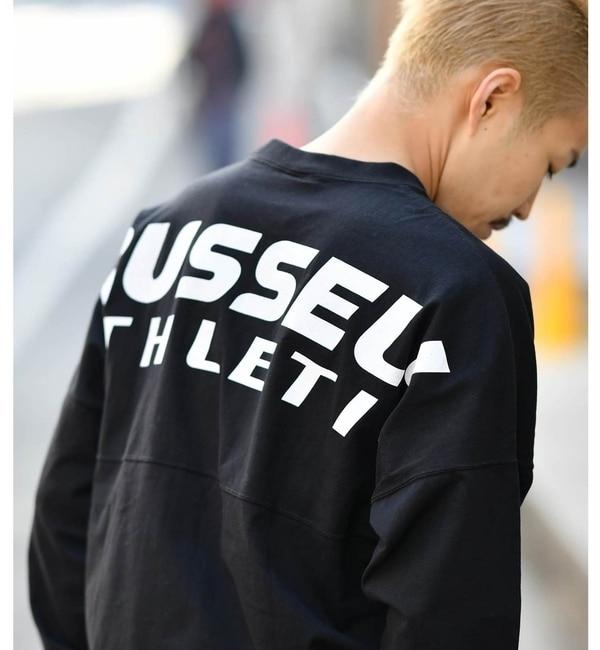 【チャオパニック/CIAOPANIC】 【RUSSELL ATHLETIC】別注バットウィングプリントTシャツ [送料無料]