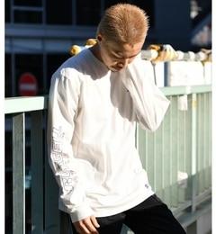 【チャオパニック/CIAOPANIC】 【RUSSELL ATHLETIC】別注袖プリントロングスリーブTシャツ [送料無料]