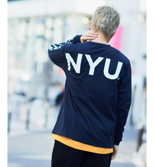 【チャオパニック/CIAOPANIC】 【New York University】ロングスリーブTシャツ [送料無料]