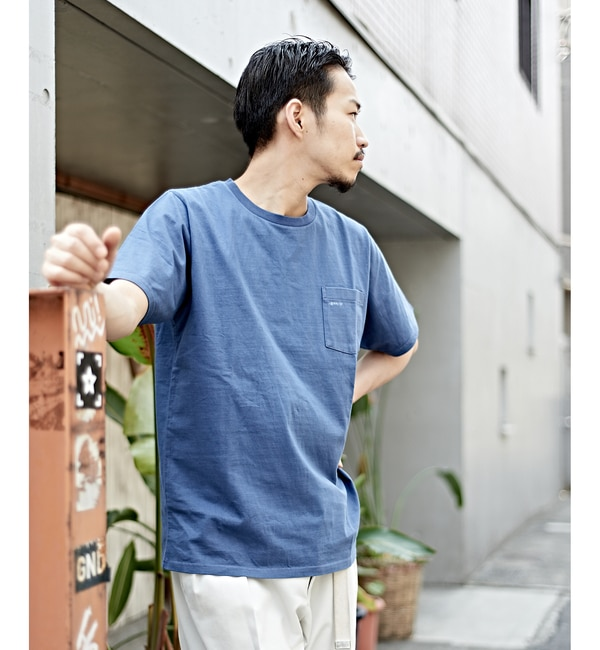 【LIGHTNING /ライトニングボルト】×SURF GREMLINTシャツ【チャオパニック/CIAOPANIC メンズ Tシャツ・カットソー ネイビー ルミネ LUMINE】