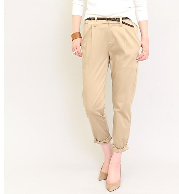 【ラウンジドレス/Loungedress】 WEB限定裾ねじりパンツ