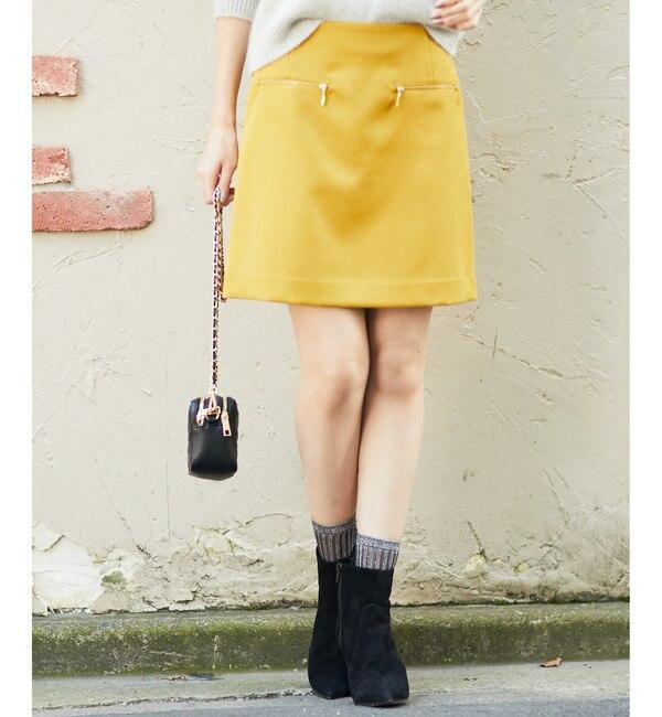 【ラウンジドレス/Loungedress】 ZIPミニスカート