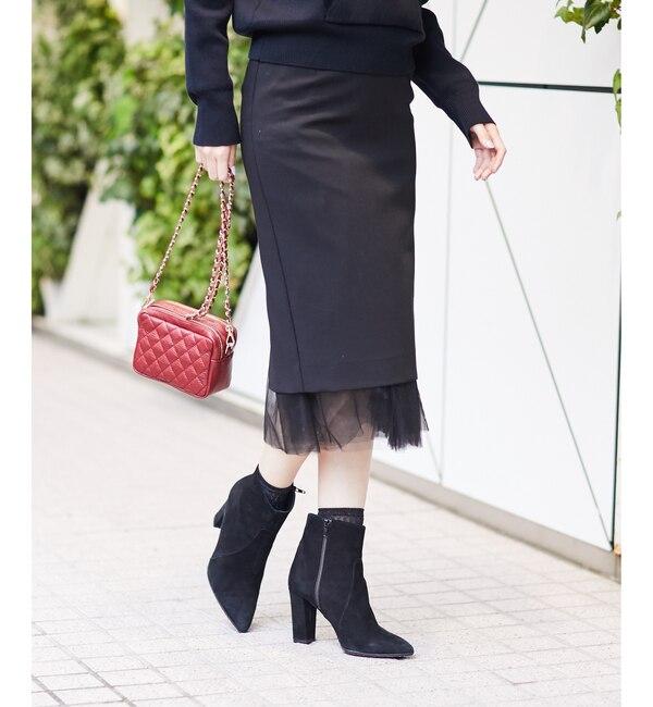 【ラウンジドレス/Loungedress】 リバーシブルチュールスカート