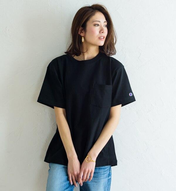 【ラウンジドレス/Loungedress】 【Champion】ポケットTシャツ