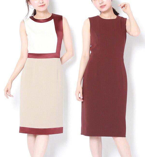 【ラウンジドレス/Loungedress】 【PEELSLOWLY】カラーブロックリバーシブルドレス