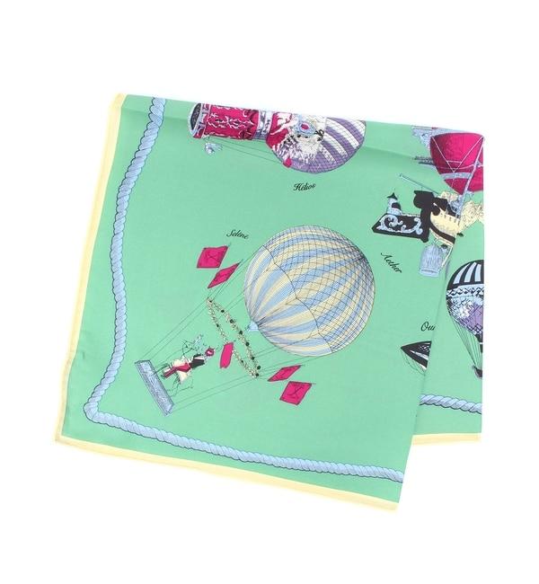 【ラウンジドレス/Loungedress】 【manipuri】気球柄スカーフ65×65