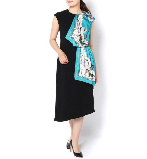 【ラウンジドレス/Loungedress】 【PEELSLOWLY】スカーフプリントドレス