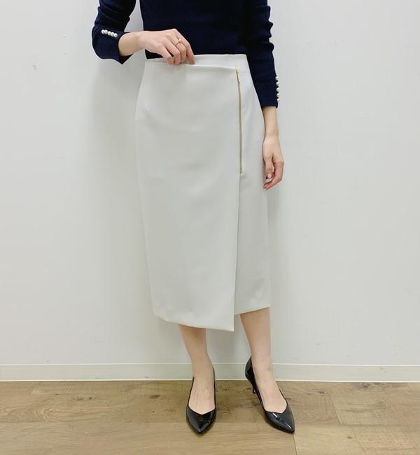 【ラウンジドレス/Loungedress】 ZIPラップスカート