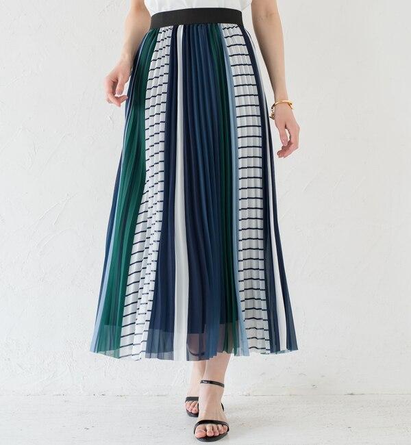 【ラウンジドレス/Loungedress】 MIXストライプスカート