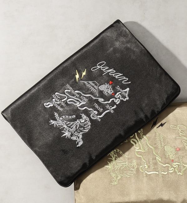 【フーズフーギャラリー/WHO'S WHO gallery】 【Casselini×WWG】コラボスカジャン刺繍クラッチ [送料無料]