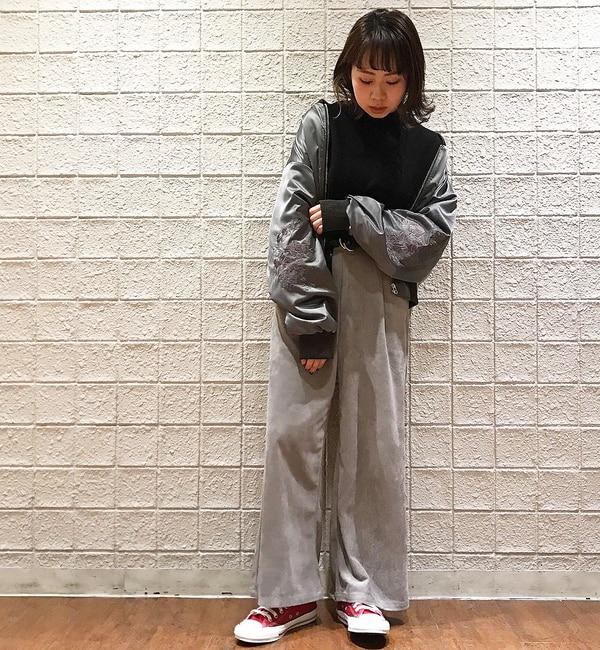 【フーズフーギャラリー/WHO'S WHO gallery】 フラワーショートブルゾン [送料無料]