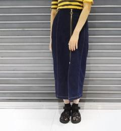 【フーズフーギャラリー/WHO'S WHO gallery】 デニムロングスリットタイトスカート [送料無料]