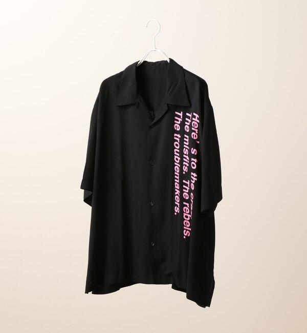 【フーズフーギャラリー/WHO'S WHO gallery】 ロゴオープンカラーシャツ [送料無料]