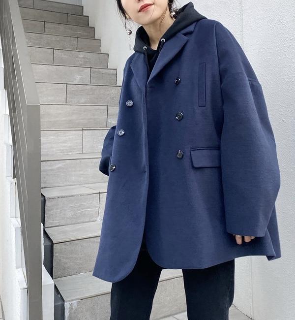 【フーズフーギャラリー/WHO'S WHO gallery】 Wハーフコートジャケット