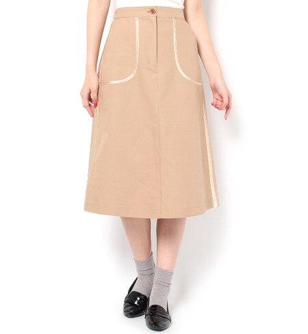 【ニーム/NIMES】 40/-平二重 Aラインスカート [送料無料]