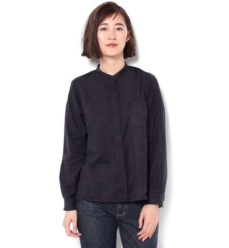 【マリンフランセーズ/LA MARINE FRANCAISE】 シルセームスウェード スタンドカラーシャツ [送料無料]
