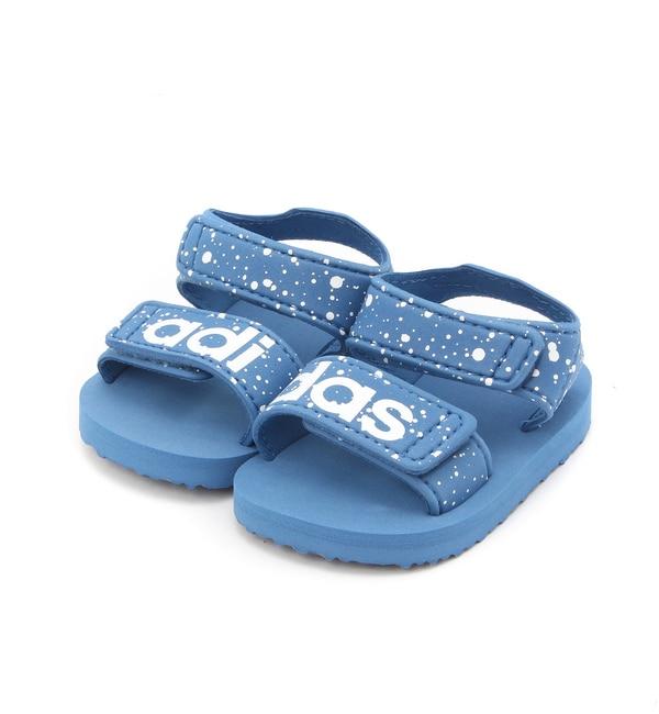 【adidas】KIDSBEACHサンダル【カプリシュ レマージュ/CAPRICIEUX LE'MAGE キッズ サンダル ブルー ルミネ LUMINE】