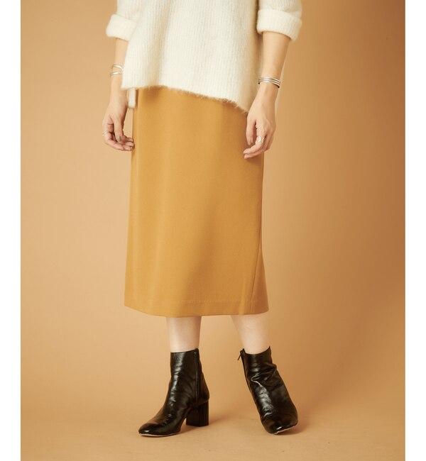 【シーナリー/SHENERY】 ダブルクロスタックタイトスカート