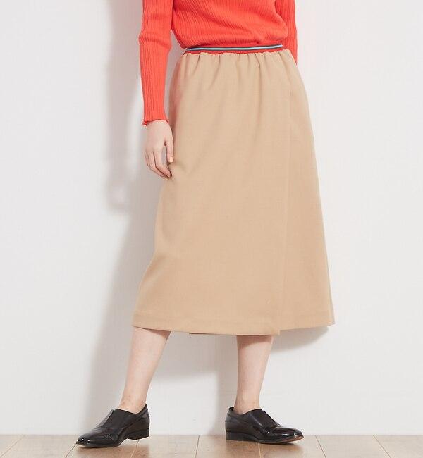 【カトルナフ/36Quatre-Neuf】 エラスティックボーダースカート