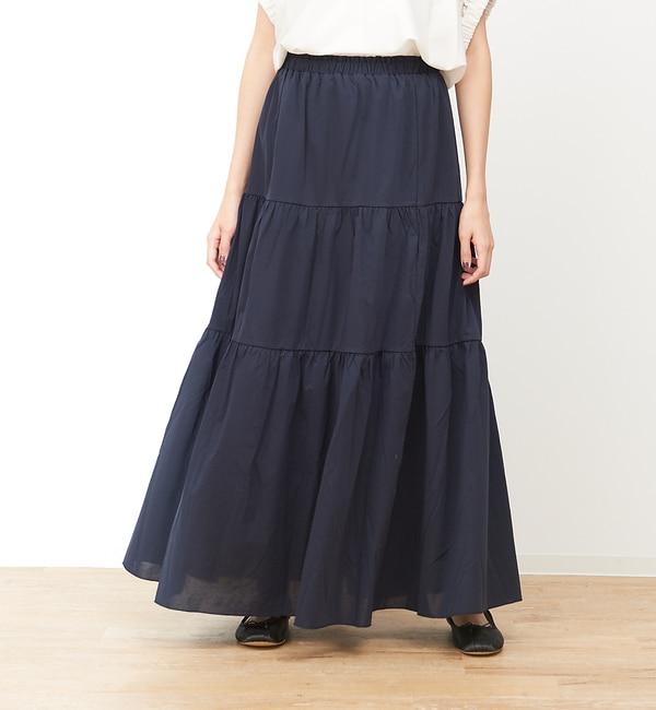 【コレックス/collex】 ティアードロングスカート