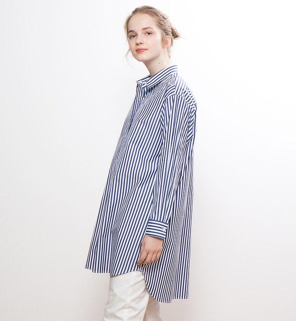 【コレックス/collex】 ストライプ/デニムチュニックシャツ