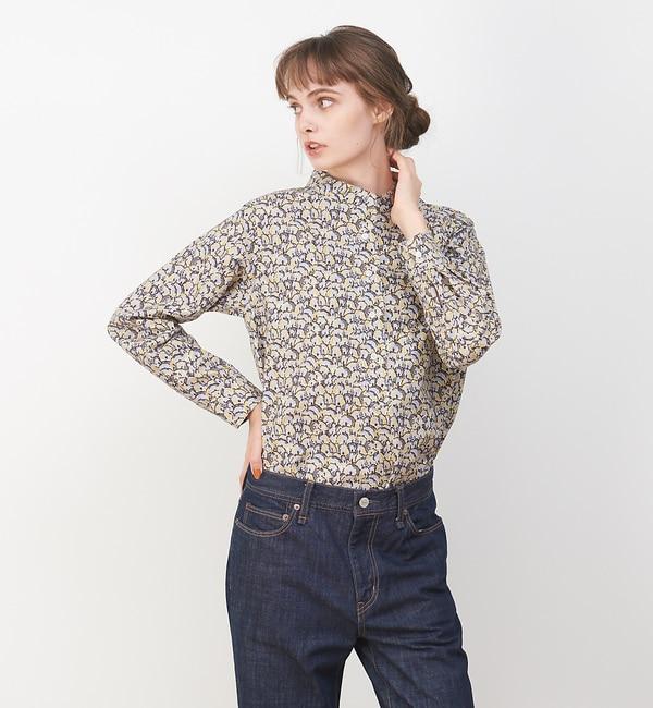【コレックス/collex】 【LIBERTY /リバティー】スタンドカラーシャツ