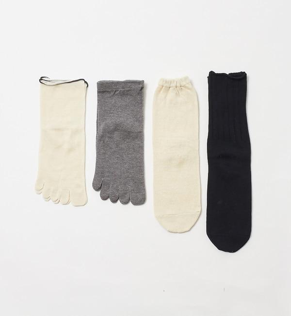【コレックス/collex】 《冷えとり》4足重ね履き靴下