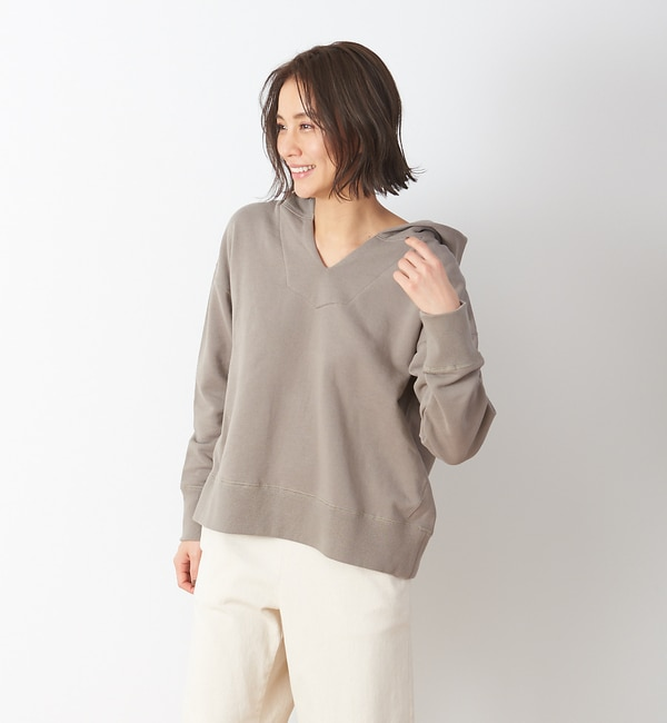 【コレックス/collex】 Vネック裏毛パーカー
