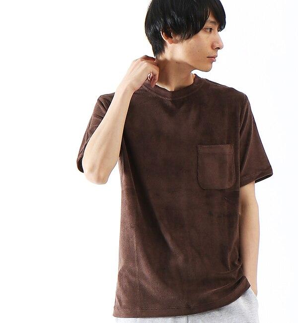 【アバハウス/ABAHOUSE】 COOL MODALパイルポケットTシャツ