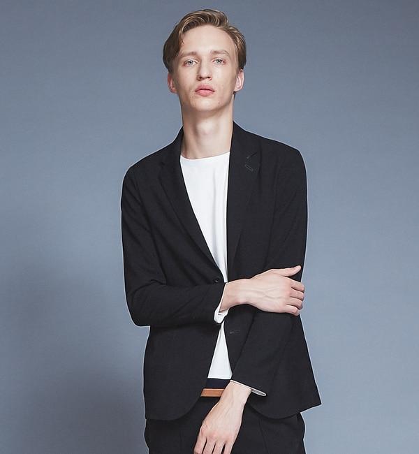 モテ系メンズファッション 【アバハウス/ABAHOUSE】 【セットアップ対応】圧着2ボタンジャケット