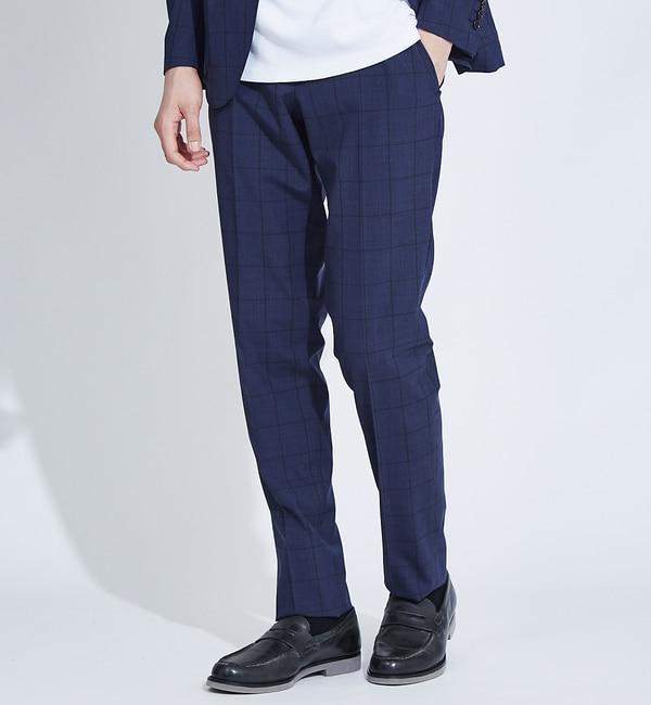 モテ系メンズファッション|【アバハウス/ABAHOUSE】 【展開店舗限定】チェックセットアップスラックスパンツ
