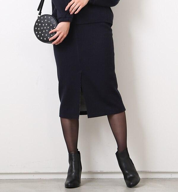 【ルージュ・ヴィフ ラクレ/Rouge vif la cle】 リブボンディングスカート [送料無料]