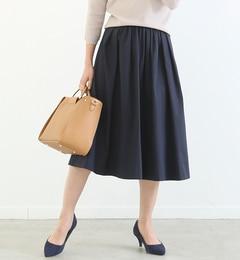 【ルージュ・ヴィフラクレ/Rougeviflacle】グログランギャザースカート[送料無料]