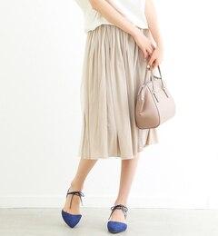 【ルージュ・ヴィフラクレ/Rougeviflacle】Yanganyチュールサテンリバースカート[送料無料]