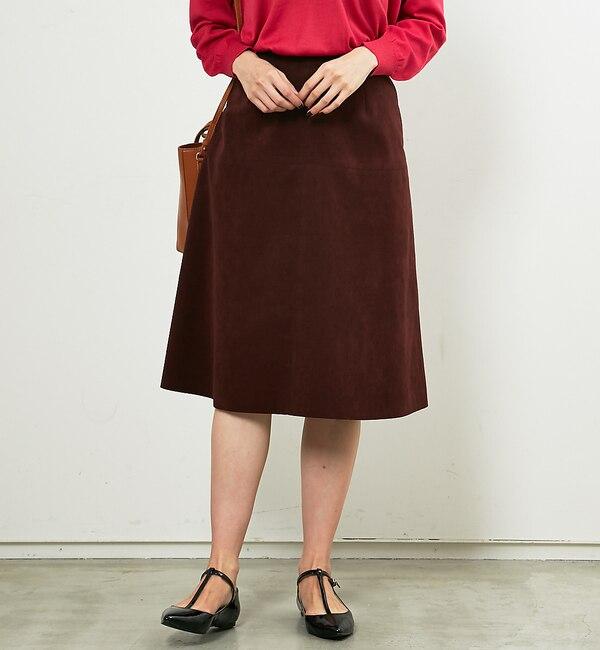 【ルージュ・ヴィフ ラクレ/Rouge vif la cle】 Yangany フェイクスエードセミフレアスカート